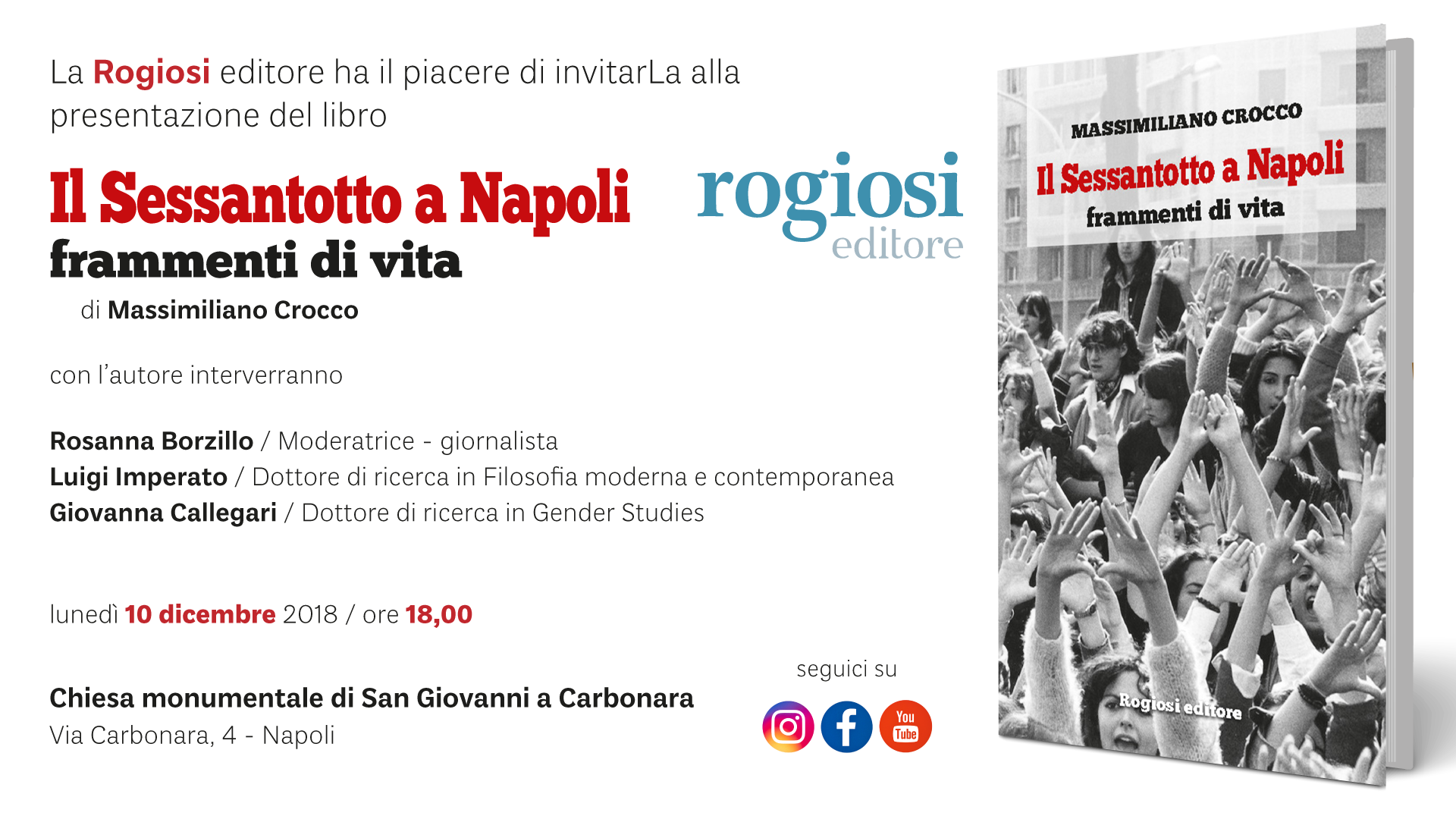 Il Sessantotto a Napoli – Presentazione Libro – 10 Dicembre