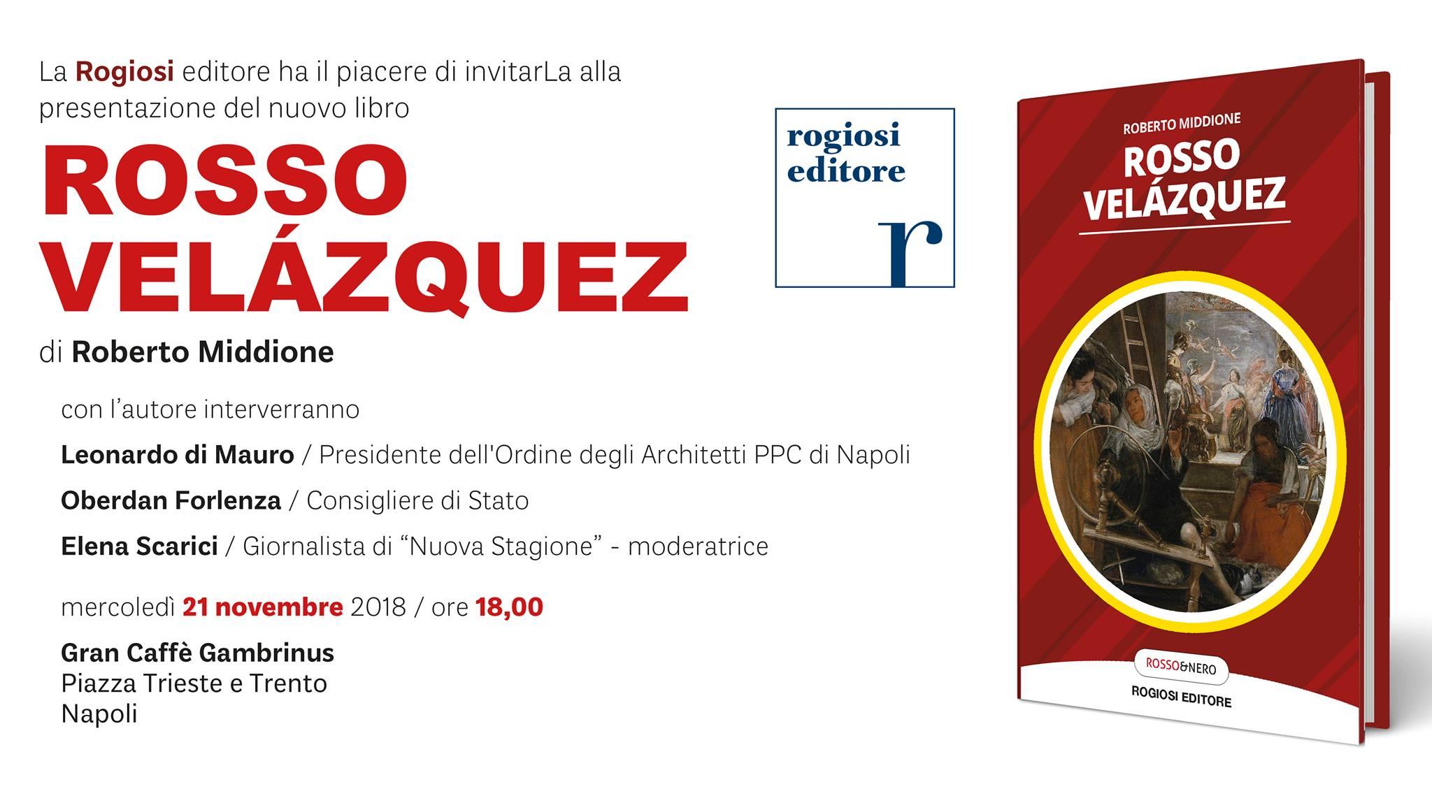 Rosso Velázquez – Presentazione del Libro