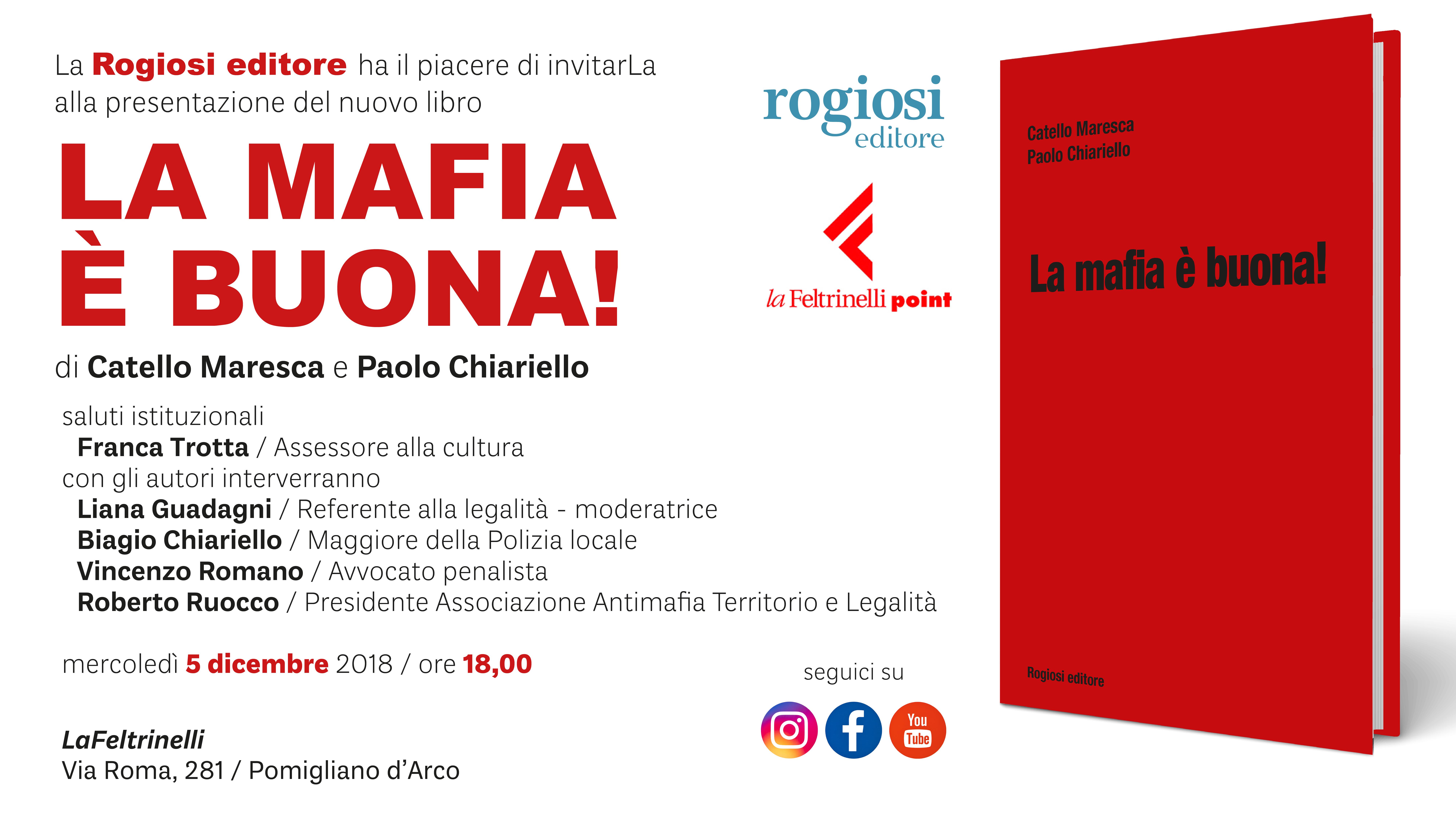 Via Romani Pomigliano D Arco presentazione libro: la mafia è buona! pomigliano d'arco