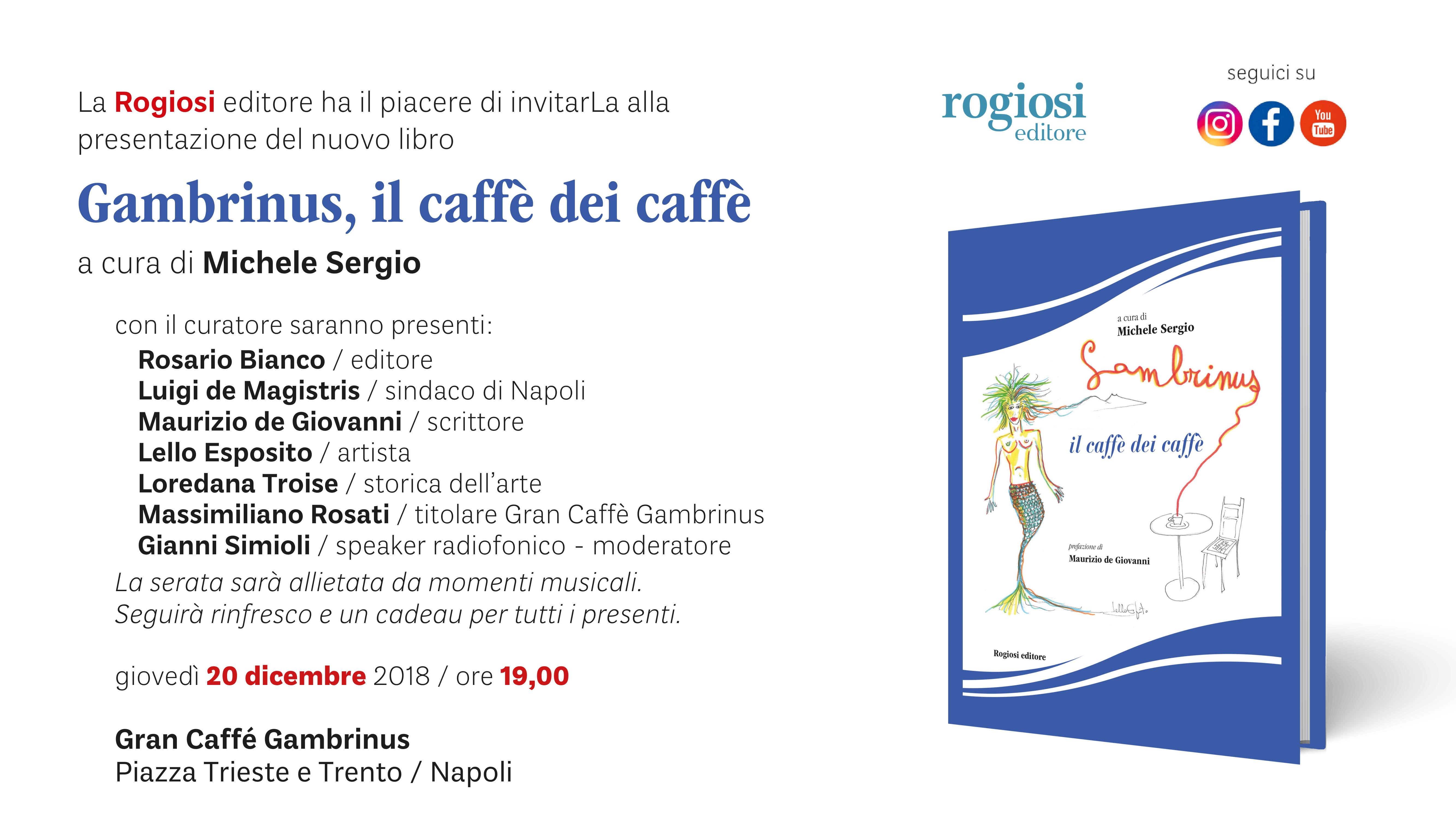 Gambrinus, il caffè dei caffè – Presentazione Libro