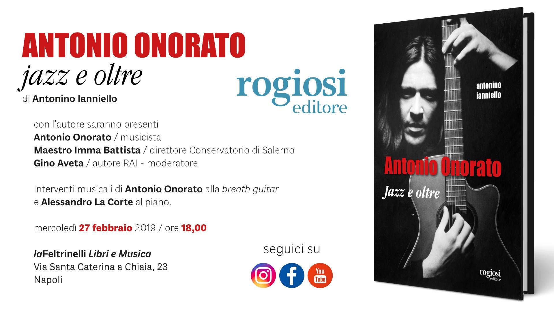 Antonio Onorato: Jazz e Oltre – Presentazione Libro