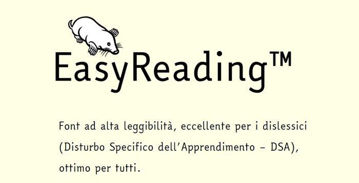 EasyReading: il font contro la dislessia