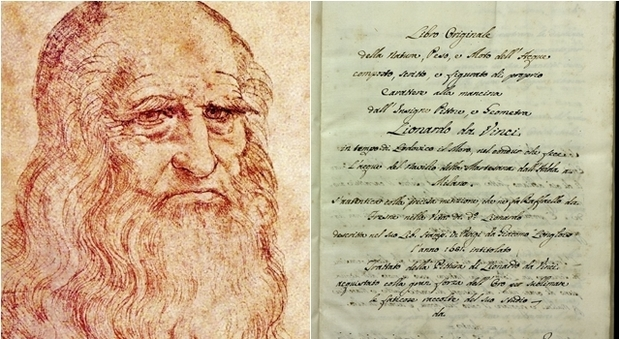 Biblioteca di Roma: Svelato un antico trattato di Leonardo da Vinci