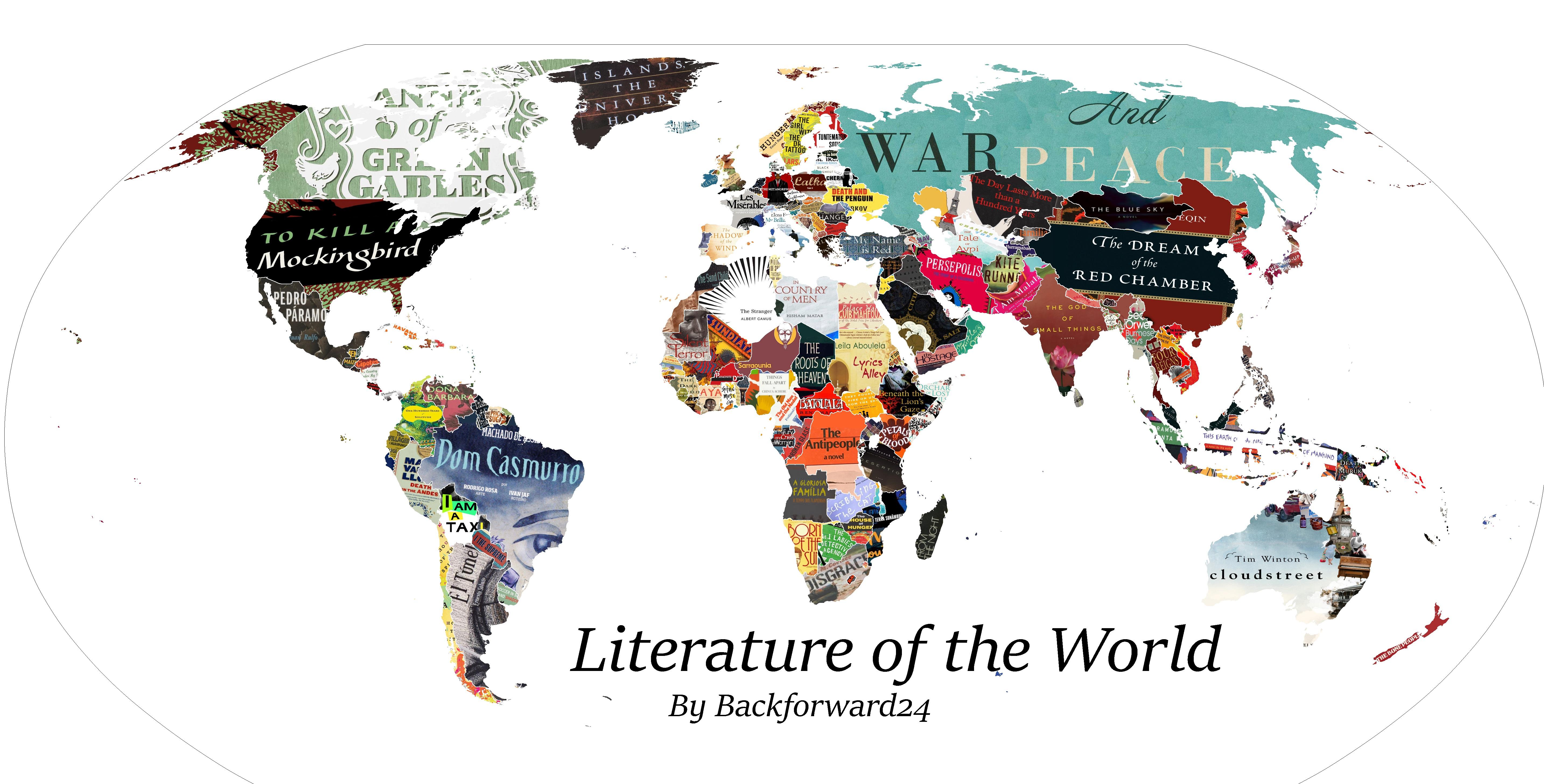 Mappa letteraria del mondo: ecco come è rappresentata l'Italia
