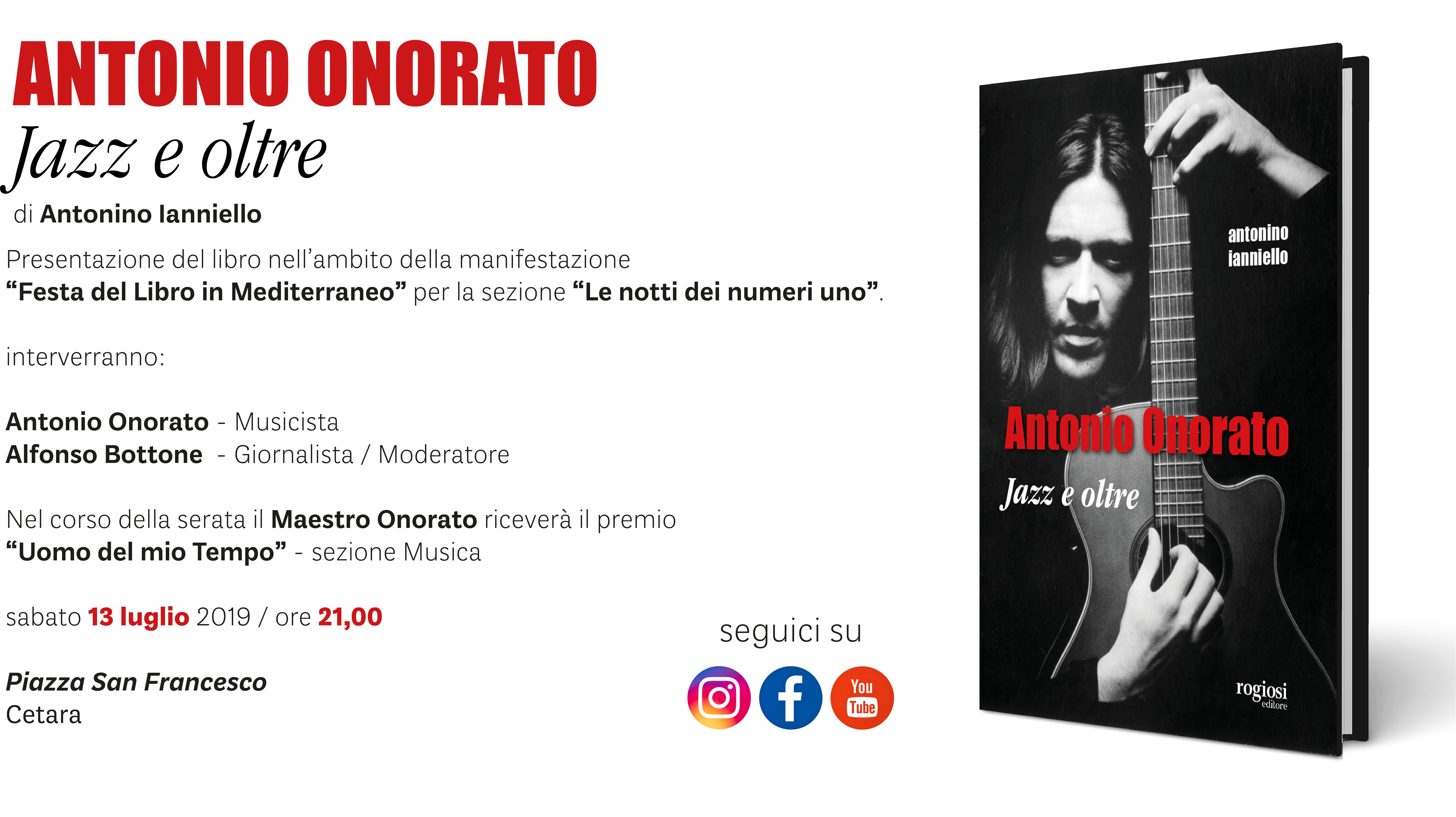 """Antonio Onorato. Jazz e oltre"" a Cetara"